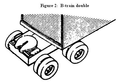 Illustration of Figure 2 - Fifth wheel assembly mounted on the rear of semi-trailer