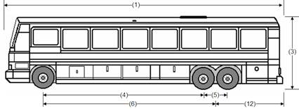 Illustration of Designated Bus or Recreational Vehicle 2, an inter-city bus or recreational vehicle, as described below.