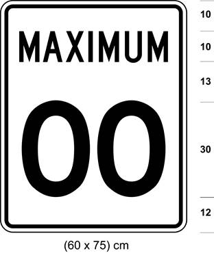 Illustration of sign with text MAXIMUM 00.