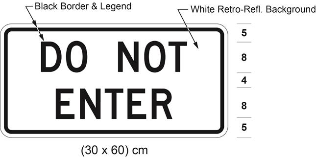 Illustration of tab sign with text DO NOT ENTER .