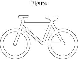 Illustration of Figure - sillhouette of a bicycle