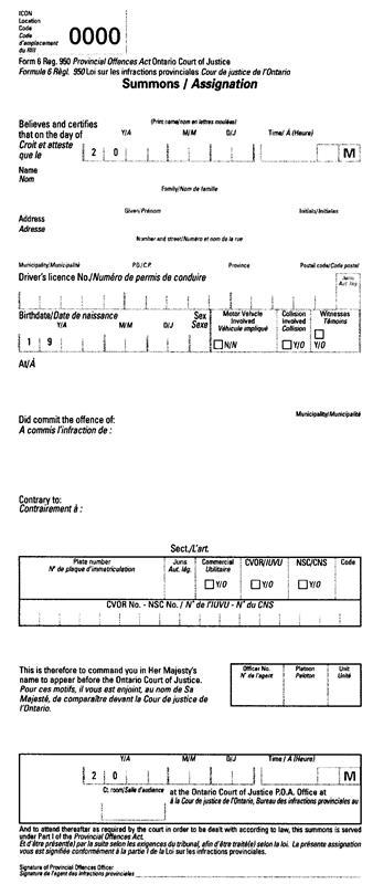 notice of application ontario superior court