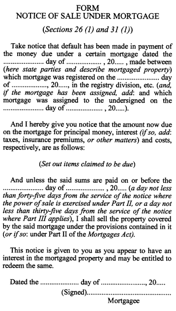 Mortgages Act, R.S.O. 1990, c. M.40